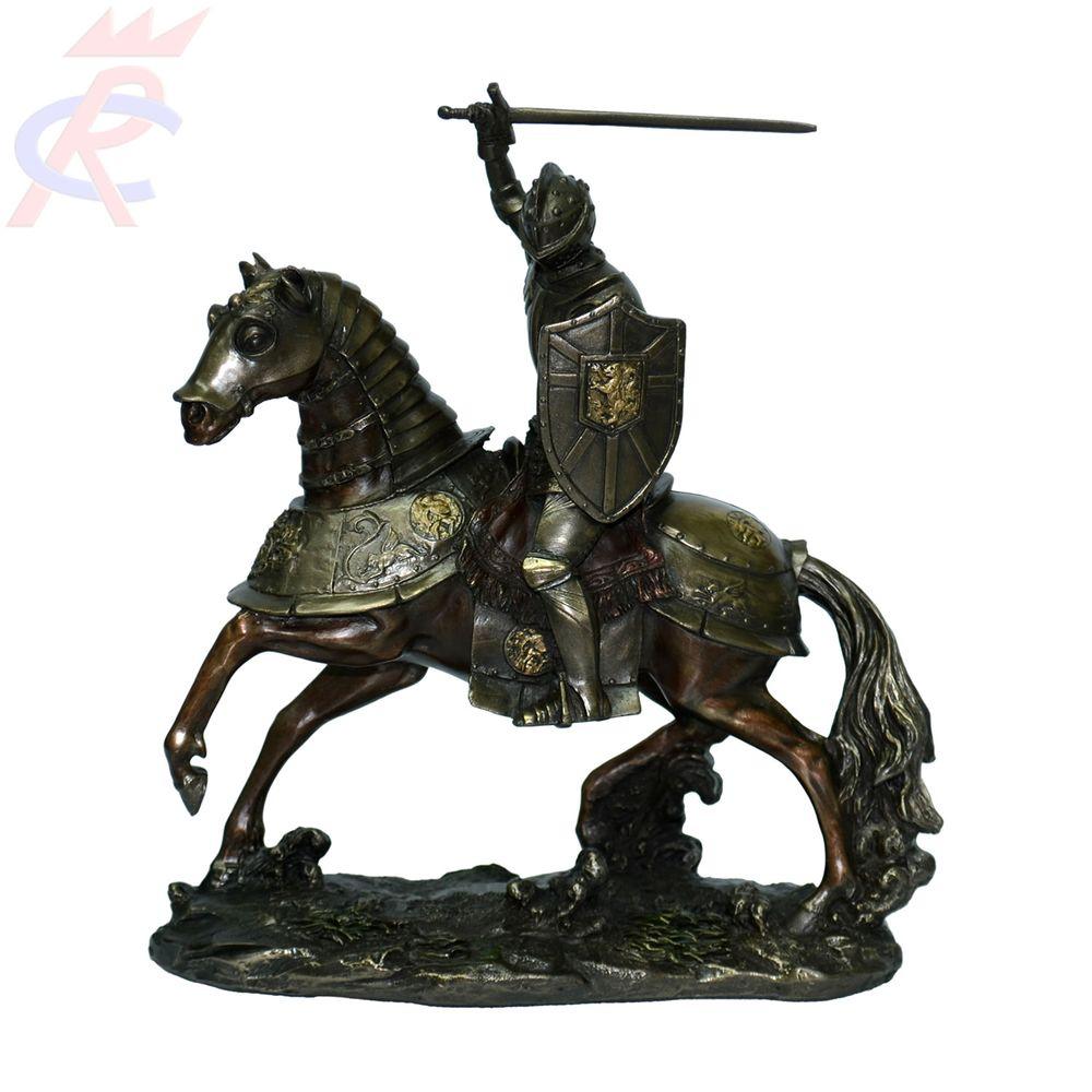 Estatueta-em-Resina-Decorativa-Cavaleiro-do-Apocalipse--Guerra--19-Cm