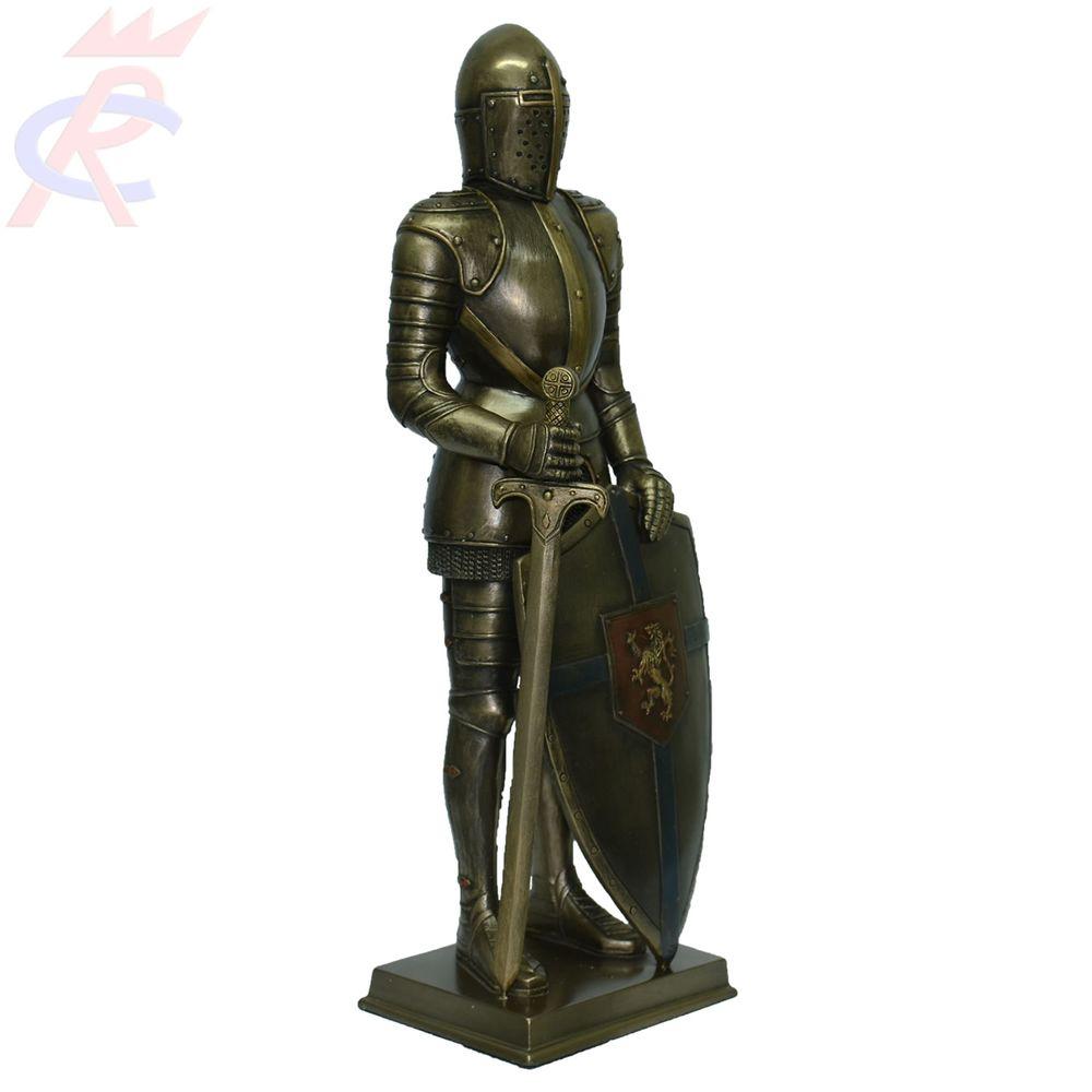 Estatueta-em-Resina-Decorativa-Guerreiro-Medieval-com-Espada-e-Escudo-32-Cm