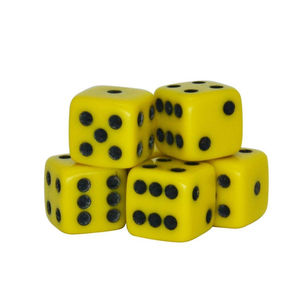 Dado-Poliester-Amarelo-14-mm---12-Pecas