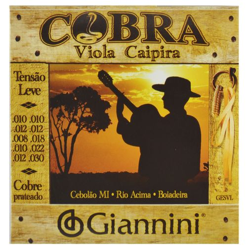 Encordoamento-Viola-Caipira-Tensao-Leve---Cobre-Prateado---Giannini