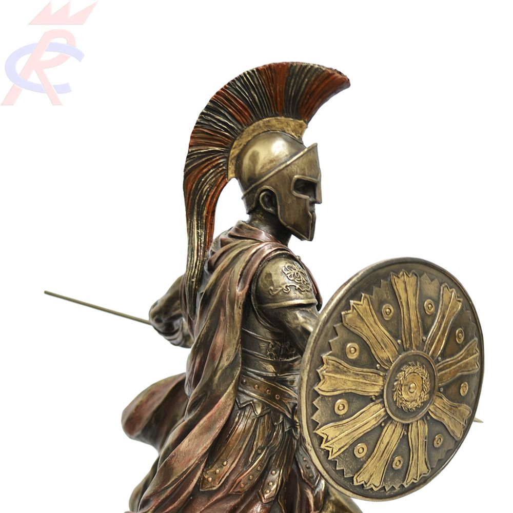 Estatua-em-Resina-Aquiles-com-Lanca-e-Escudo-29-cm