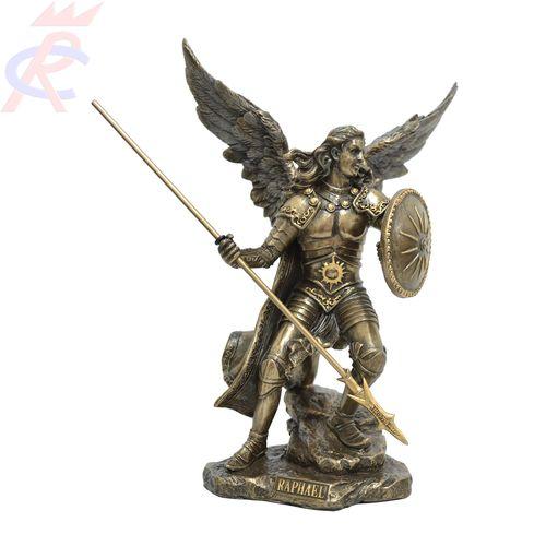 Estatua-em-Resina-Arcanjo-Rafael-com-Lanca-e-Escudo-22-cm