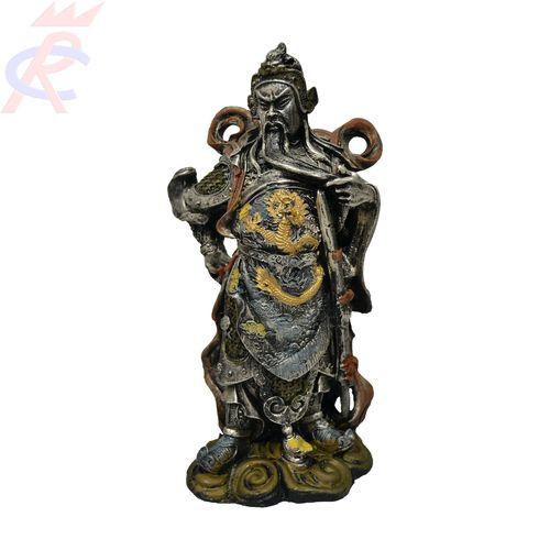 Estatueta-Guerreiro-Chines-5-Dragoes-em-Resina-25-cm