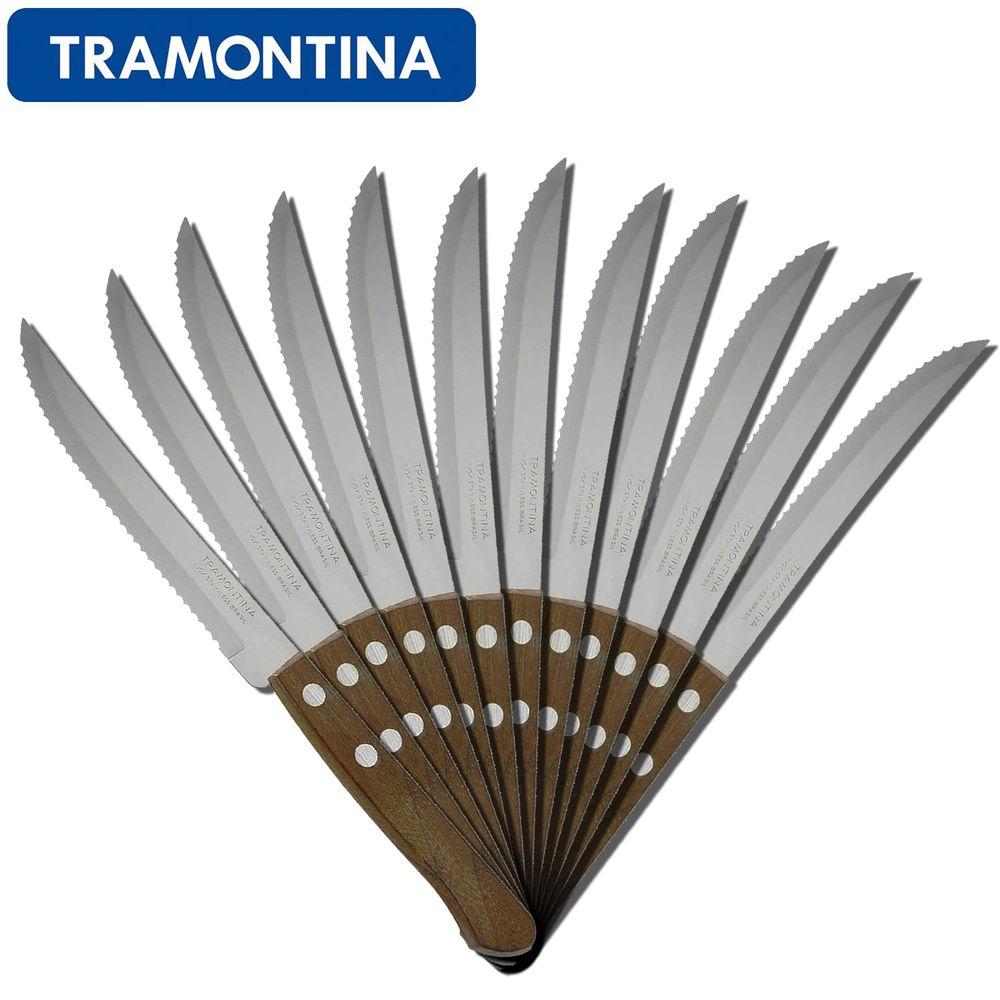 Facas-Inox-para-Churrasco-com-Serra-e-Cabo-de-Madeira-12-Pecas---Tramontina